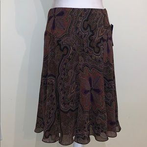 NWT Chaps | Maxi Fit & Flare Skirt
